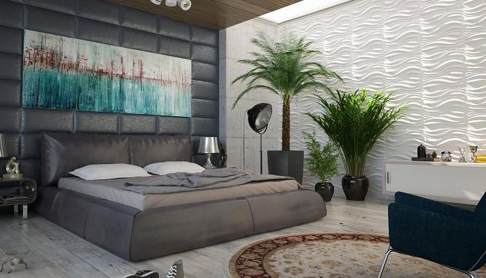 cuarto decorado con plantas