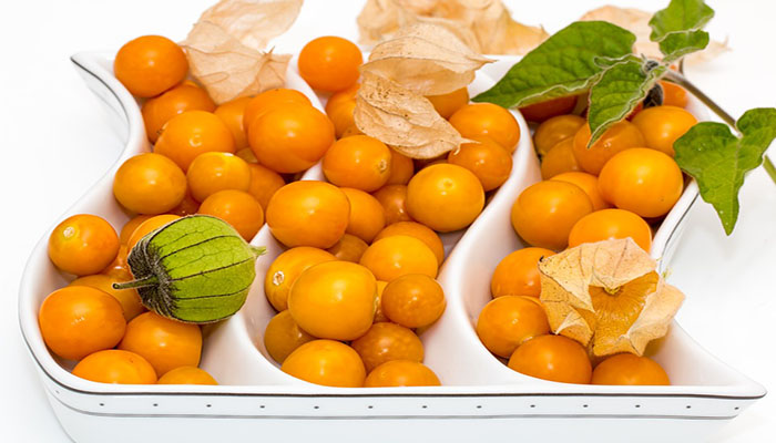 Fruto ya recolectado, con y sin cáscara