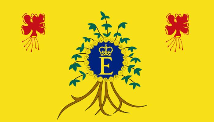 Bandera personal de Barbados de la Reina Isabel II